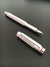 Rotring 600 Newton Silver Fountain Pen F nib Bauhaus