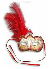 Feather Masquerade Mask, Venetian Style Glitter Party Mask Carnival Ball Mask