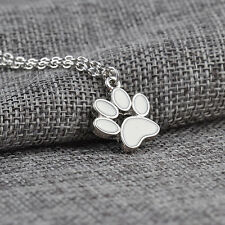 Fashion Dog Paw Footprint Pendant Chain Statement Necklace Choker Women Jewelry
