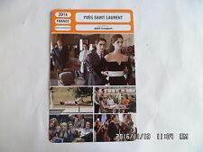 CARTE FICHE CINEMA 2014 YVES SAINT LAURENT Pierre Niney Laura Smet