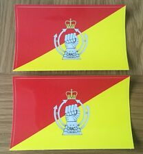 MILITARY LAND ROVER ARMY RAC DECAL X2 ROYAL ARMOURED CORPS