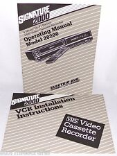 New listing Vhs Cassette Recorder Operating Manual Model 20200 Montgomery Wards & Vcr Manual
