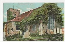 Essex, Old Chingford Church, Charles Martin Postcard, A845