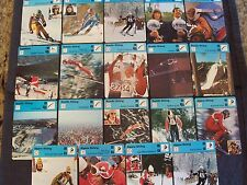 lot of 19 Sportscaster skiing cards, 1977 Editions Recontre - Alpine, Nordic