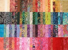 "BATIK RAINBOW - Huge set Gorgeous Rainbow BATIKS - 2.5"" Mini Charm Squares x 100"