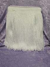 """TRIMMINGS BN 12"""" WHITE LOOPED  FRINGING SEWING/CRAFTS/COSTUMES 1 METRE PIECE"""