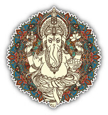 Lord Ganesha Colorful Label Car Bumper Sticker Decal 5'' x 5''