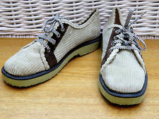 Vintage Ladies  Mens Boys Size 5 Lace Up PIRELLI Vintage Corduroy Shoes Trainers