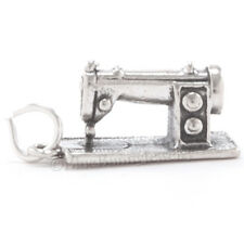 3D SEWING MACHINE Craft Charm Pendant 925 Sterling Silver Solid detailed Jewelry