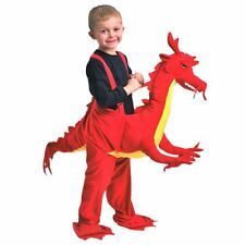 New Childrens Red Dragon Rider Ride On  Fancy Dress Up Outfit Costume Ages 3-7