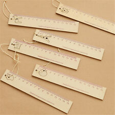 15cm Wooden Ruler with Pendant Bookmark Drawing Stationery Gift Random Pattern