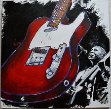 "KAT ORIGINAL ACRYLIC PAINTING ""MUDDY WATERS""  SIGNED W/COA 30""X30"" AM"