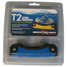 Scuba Multi Tool - Save a Dive kit. 11 tools in one. Blue color T2 Toolpack