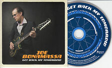 JOE BONAMASSA Get Back My Tomorrow UK promo CD radio edit cream sleeve