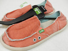 SANUK WOMENS SIDEWALK SURFER DONNA DISTRESSED SPICED CORAL SWF11137 SPCO SIZE 6