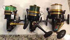 3 Penn Spinning Reels 950ssm 9500SS 850ssm used