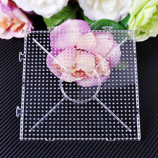 14.7cm Square Clear Fusion Pegboard Template Replacement fit Hama Perler Bead