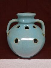 "vtg Cole Turquoise Frog Flower Vase Floral Arrangement Pottery  7"" tall"