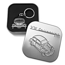 Official VW Beetle Car Metal Keyring with coin holder in gift box - Pewtar