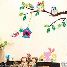 Wandtattoo Eule Eulen Ast  Wandaufkleber Wand Wall Sticker Kinderzimmer Kinder
