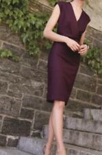 NEW JCREW V-NECK SHEATH DRESS SUPER 120s WOOL 2 HEATHER CABERNET RED F4013 $178