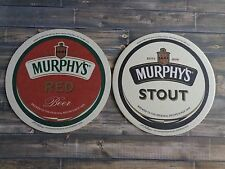 Beer Coaster ~  ~ MURPHY'S Brewery Stout & Red Ale ~ Established 1856    IRELAND