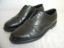 HUSH PUPPIES BLACK LEATHER OXFORD SHOES / SIZE US 9 / EUR 42 MEN'S