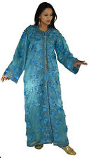 Moroccan Caftan Embroidery Wedding Abaya Kaftan Dress Jellaba Gelabia Takchita