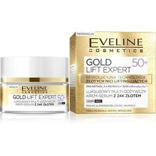 EVELINE COSMETICS GOLD LIFT EXPERT 50+ FACE MULTINOURISHING CREAM SERUM 24k gold