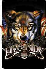 Live To Ride Wolf Face Metal Refillable Lighter