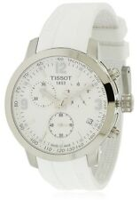 Tissot PRC 200 White Rubber Chronograph Mens Watch T0554171701700