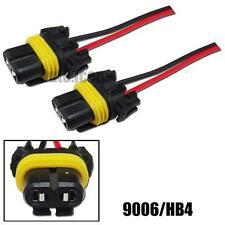2pcs 9006 HB4 Female Adapter Wiring Harness Sockets For Headlights/Fog Lights