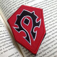 WOW World of Warcraft Tribe Terran Game EMBROIDERED Hook & Loop VELCRO PATCH RED
