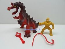 Crystar Remco 1982 Crystal Warrior Action Figure LAVA DRAGON with Rider Complete