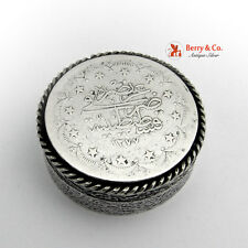 Antique Turkish Coin Box 900 Silver 20 Kurus 1277 1874