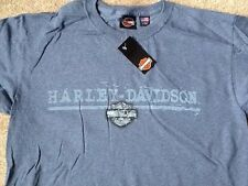 Harley Davidson Bar And Shield blue Shirt Nwt Men's Large