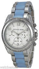 Michael Kors MK6137 Blair Silver Dial Stainless Chronograph Women's Watch