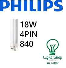 PHILIPS 18w Biax D/E 4Pin Lamp 840 4000k Cool White G24q-2 F18DBX/840/4P/LL