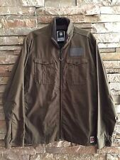 G STAR RAW RANGER SHIRT L/S JACKET MILTARY GREEN RIPSTOP SOFT JERSEY XXL