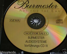 Burmester Vorfuhrungs CD III, Gold Disc, Audiophile CD, NM, Disc Only. Last lot.