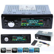 Remote Car Radio Single 1 DIN In Dash 12V SD/USB Aux Input FM Stereo Head Unit