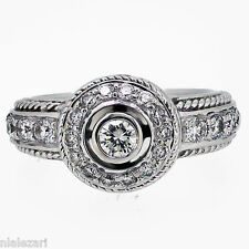 .58ct Round Cut Diamond Ring F VVs1 Clarity 18k White Gold size 4.5 yes sizable