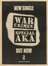 11/12/82Pgn09 Advert: Special Aka New Single war Crimes Out Now 15x11