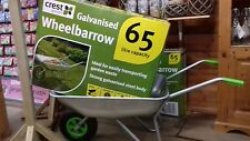 Crest Garden 65 litre capacity Galvanised Wheelbarrow-Quality Product&Price