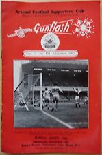 GUNFLASH ARSENAL FOOTBALL SUPPORTERS' CLUB No 154 December 1963 NM