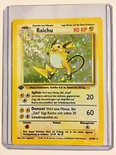 Pokemon RAICHU 1st Edition GERMAN 14/102 Base HOLO Rare MINT CONDITION