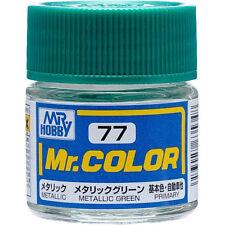 GSI CREOS GUNZE MR HOBBY Color C077 C77 Metallic Green LACQUER PAINT 10ml MODEL
