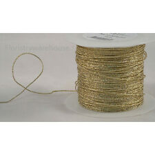 Foil covered glitter 1mm florists craft wire 100m roll Gold