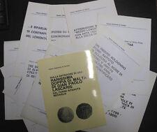 LOTTO 17 estratti di Gamberini ediz. LA NUMISMATICA: monete, medaglie, banconote