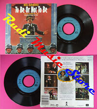 LP 45 7'' MEL BROOKS To be or not to be the hitler rap 1983 france no cd mc dvd